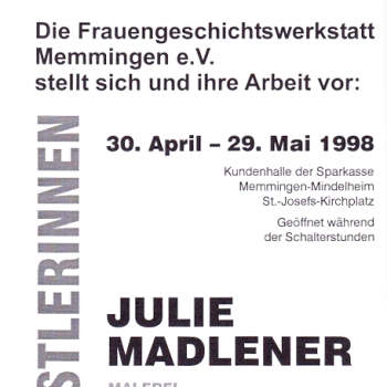 """Ausstellung """"Memminger Künstlerinnen"""""""